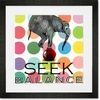 Seek Balance Framed Art Print