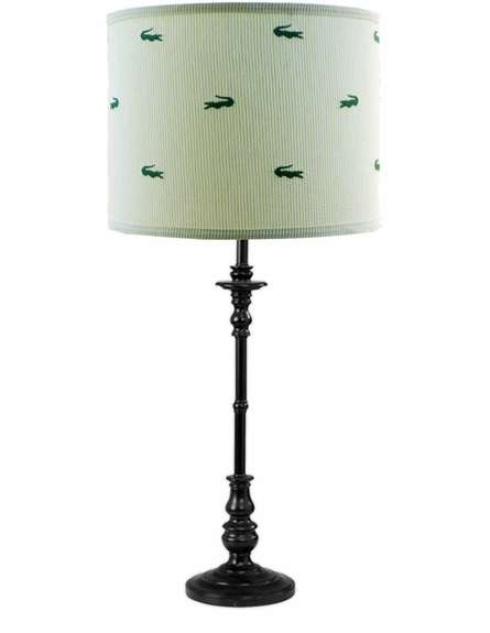 Seersucker Alligator Lamp Shade