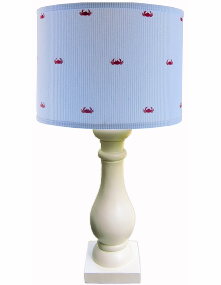 Seersucker Crab Lamp Shade