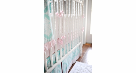 Seersucker Pink Stripe Crib Sheet