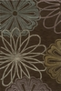 Sensations Brown Flower Rug