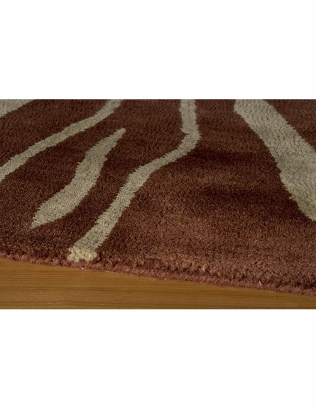 Serengeti Copper Zebra Stripes Rug