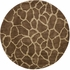 Serengeti Giraffe Print Rug in Copper