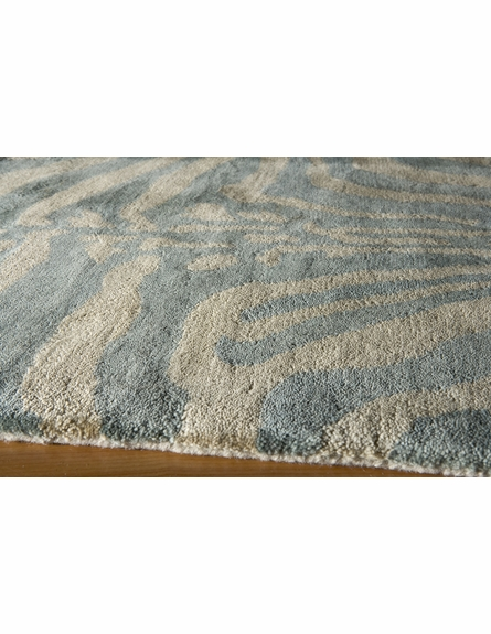 Serengeti Ice Zebra Stripes Rug