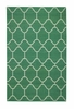 Serpentine Rug in Dark Green