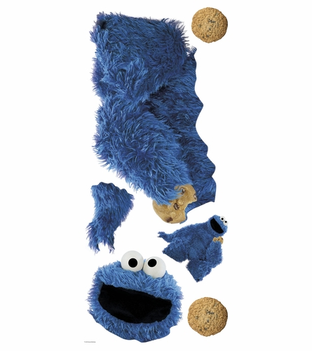 Sesame Street Cookie Monster Giant Peel & Stick Wall Decal