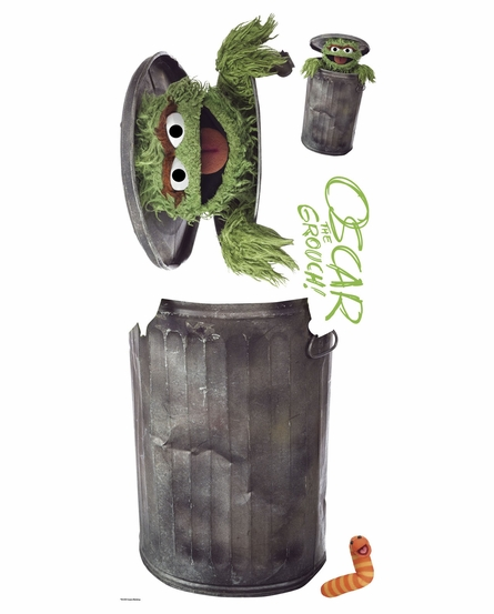 Sesame Street Oscar the Grouch Giant Peel & Stick Wall Decal