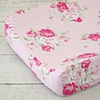 Shabby Chic Roses Changing Pad Cover
