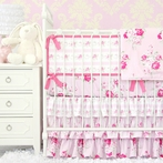 Shabby Chic Crib Bedding Set