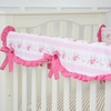 Shabby Chic Roses Crib Rail Cover