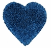 Shag Heart Rug in Denim