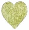 Shag Heart Rug in Lime