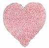 Shag Heart Rug in Pink