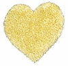 Shag Heart Rug in Yellow