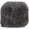 Shag Pouf in Coal Black