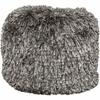 Shag Pouf in Gray