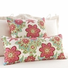 Shalini Ivory and Raspberry Rectangular Pillow