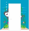 Shark Doorhugger Paint by Number Wall Mural