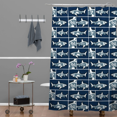On Sale Shark X Ray Shower Curtain