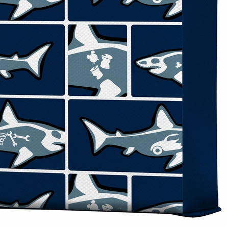 Shark X Ray Wrapped Canvas Art