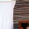 Sheer White Smocked Curtain Panel