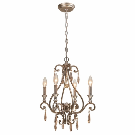 Shelby Distressed Twilight Mini Crystal Chandelier