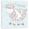 Shelby Sheep in Blue Canvas Reproduction