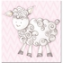 Shelby Sheep in Pink Canvas Reproduction