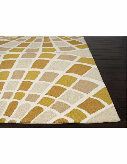 Shellfish Rug in Beige and Yellow