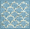 Shells Nouveau Rug in Light Blue