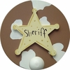 Sheriff Wall Peg - Set of Two