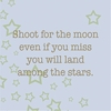 Shoot For The Moon Canvas Reproduction