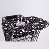 Shopping Cart Cover in Black and White Leaf