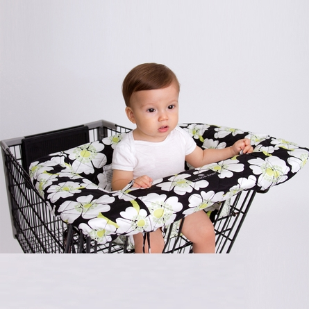 Shopping Cart Cover in Lime Poppy