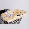 Shopping Cart Cover in Yellow Floral