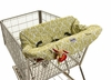 Shopping Cart & High Chair Cover in Avocado Damask
