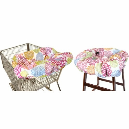 Shopping Cart & High Chair Cover in Fresh Bloom