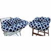 Shopping Cart & High Chair Cover in Social Circle Blue