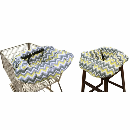 Shopping Cart & High Chair Cover in Sunshine Chevron