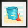 Shovel and Blue Pail Framed Art Print