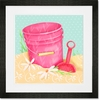 Shovel and Pink Pail Framed Art Print
