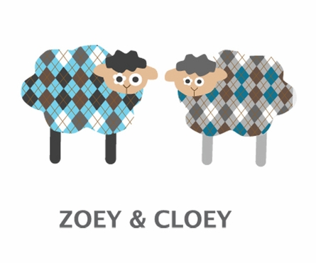 Shy Sheepies Fabric Wall Decals