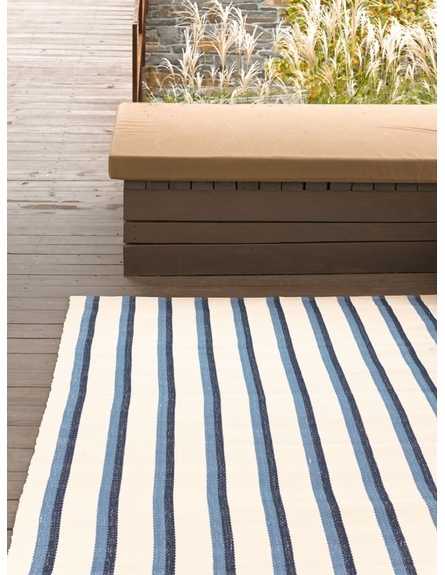 On Sale Sidebar Indoor/Outdoor Rug in Blue