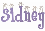 Sidney's Purple Passion Wooden Hanging Letters