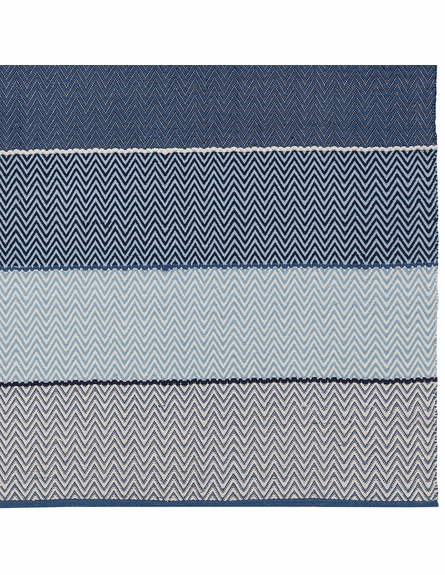 Siena Cotton Flatweave Rug in Blue