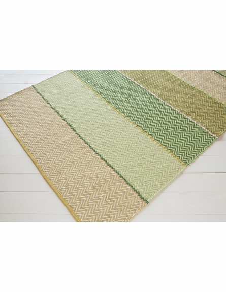 Siena Cotton Flatweave Rug in Green