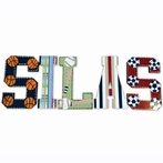 Silas Sports Hand Painted Wall Letters