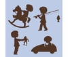 Silhouette Boys Paint by Number Wall Mural