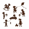 Silhouette Kids Mini Paint by Number Wall Mural