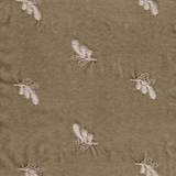 Silk Velvet Embroidered Sand (57)
